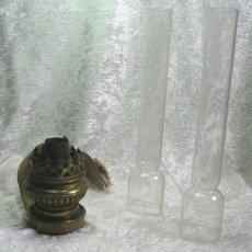 Antigüedades: BOCA QUINQUE CON TRES TUBOS DE CRISTAL. Lote 131967114