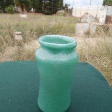 Antigüedades: ANTIGUO TARRO EN CRISTAL SOBLADO DE FARMACIA,ALBARELO. Lote 51544506