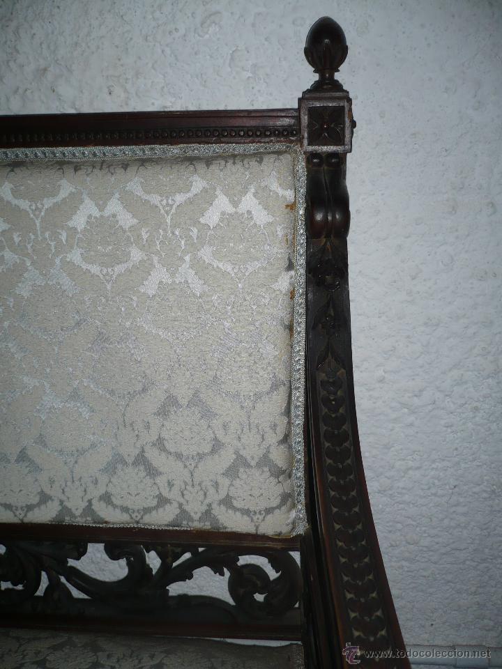 Antigüedades: Sofá tresillo colonial, Carlos IV, primeras décadas del S. XIX, profusaente tallado a mano - Foto 2 - 51546352
