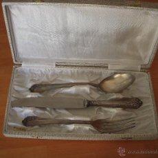 Antigüedades: CUBIERTOS PUNZONADOS CON SU ESTUCHE ORIGINAL, MARCA DALIA. Lote 51551940