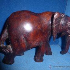 Antigüedades: ELEFANTE DE MADERA TALLADA . Lote 51563477