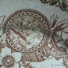 Antigüedades: PLATO CERAMICA DEL SIGLO XIX LA CARTUJA PICKMAN SEVILLA SELLO . Lote 51567227