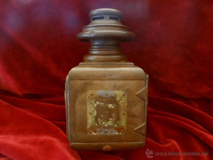 Antigüedades: PRIMER MODELO DE FARO DE ACETILENO PARA COCHE,CREADO POR EL GRAN AERONÁUTICO BLÉRIOT, AÑO 1.897 - Foto 6 - 50131603