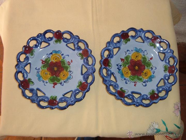 Pareja de platos de cer mica portuguesa comprar botijos Ceramica portuguesa online