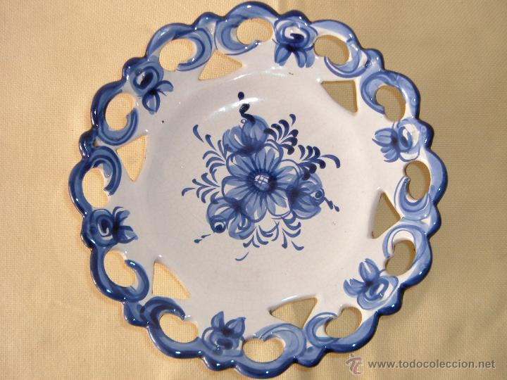 Plato de cer mica calada portuguesa comprar botijos Ceramica portuguesa online