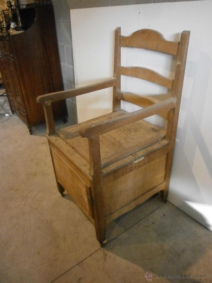 Curioso sill n lavabo rustico con ruedas comprar for Sillones de madera