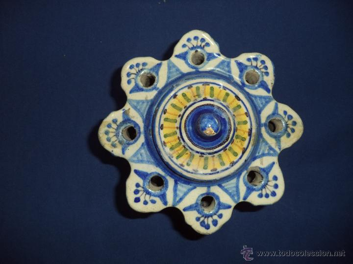 Antigüedades: Tintero en ceramica Talavera?, Sec XIX - Foto 2 - 51629027