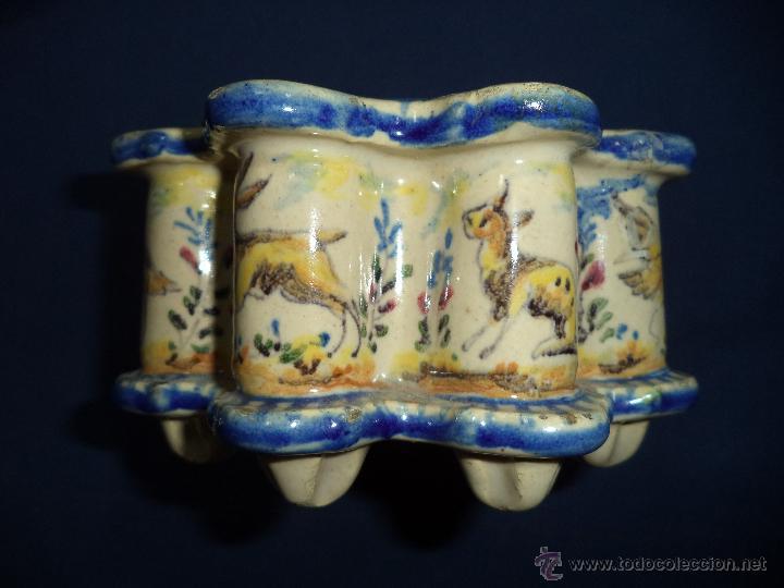 Antigüedades: Tintero en ceramica Talavera?, Sec XIX - Foto 5 - 51629027
