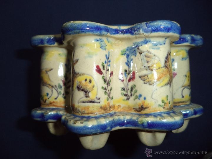 Antigüedades: Tintero en ceramica Talavera?, Sec XIX - Foto 6 - 51629027