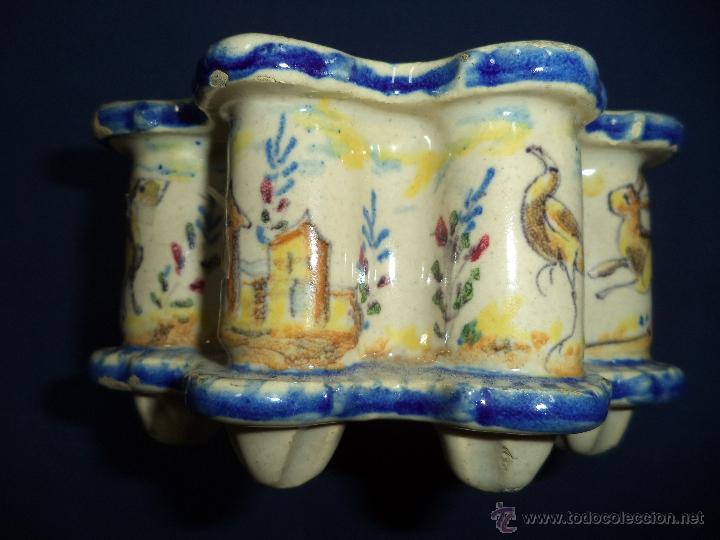 Antigüedades: Tintero en ceramica Talavera?, Sec XIX - Foto 11 - 51629027