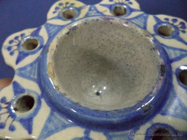 Antigüedades: Tintero en ceramica Talavera?, Sec XIX - Foto 13 - 51629027