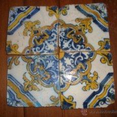 Antigüedades: COMPOSICION DE AZULEJOS SIGLO XVII. Lote 51634489