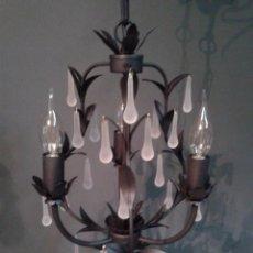 Antigüedades: LAMPARA DE TECHO DE LAGRIMAS NUEVAS. Lote 51643786