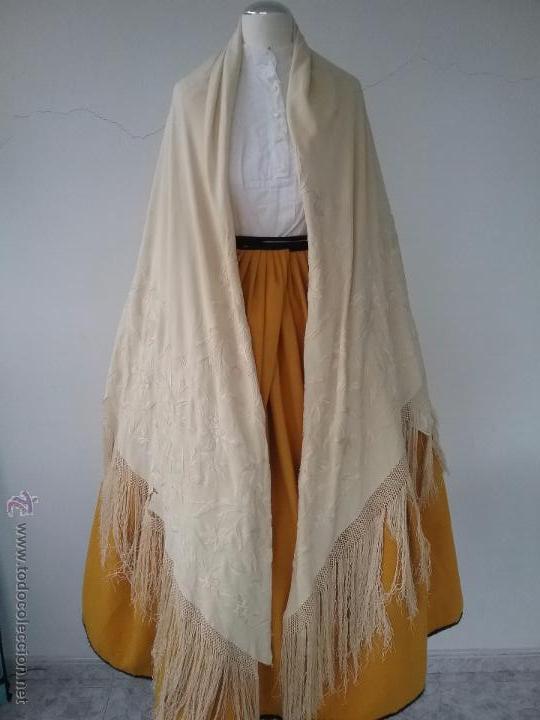 Antigüedades: Antiguo manton de manila - Foto 2 - 51644905