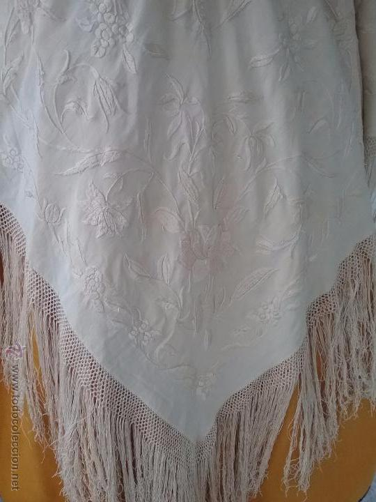 Antigüedades: Antiguo manton de manila - Foto 3 - 51644905