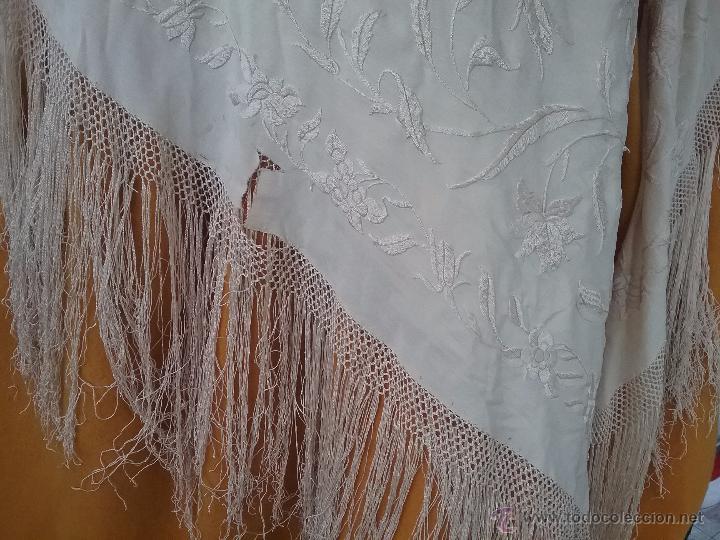 Antigüedades: Antiguo manton de manila - Foto 4 - 51644905