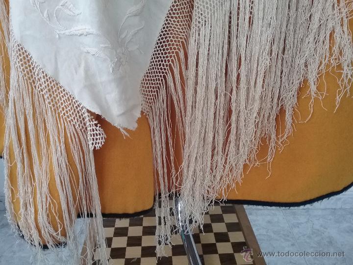 Antigüedades: Antiguo manton de manila - Foto 5 - 51644905