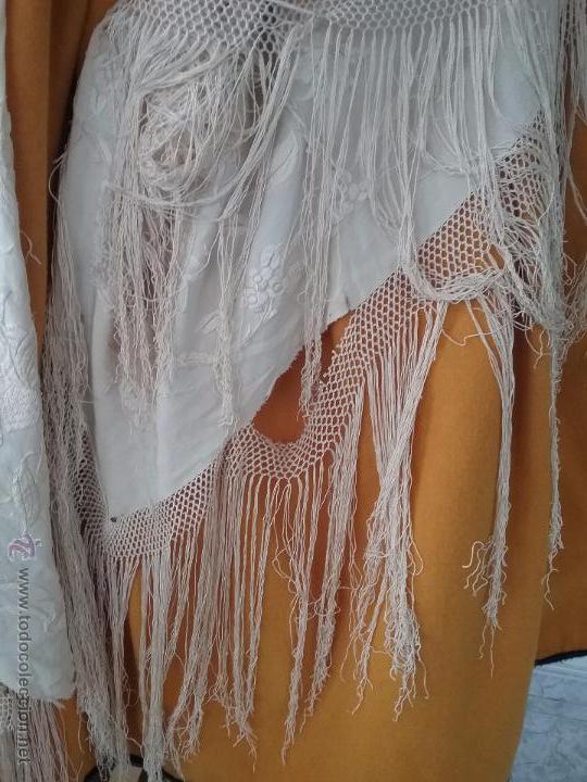 Antigüedades: Antiguo manton de manila - Foto 6 - 51644905