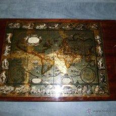 Antigüedades: BANDEJA CARTOGRAFIA MAPAMUNDI DE WILLEN BLAEU 1606. Lote 51648247