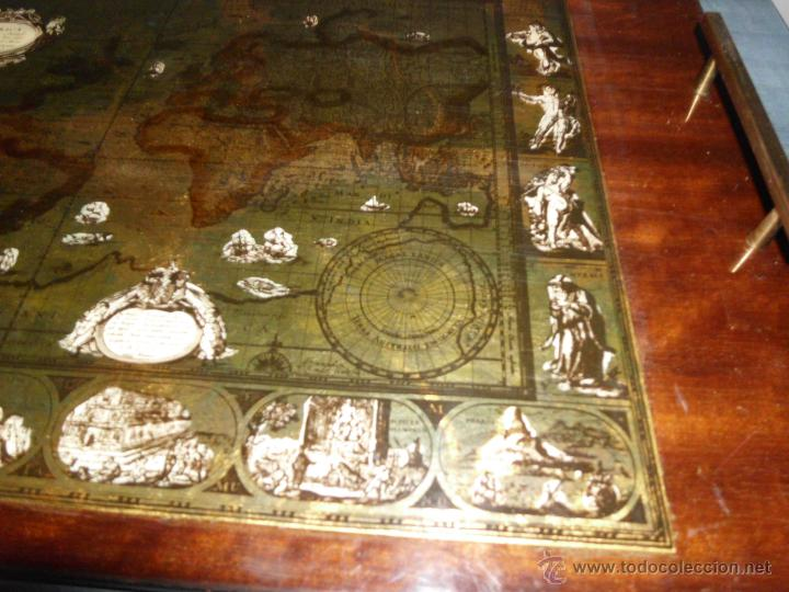 Antigüedades: Bandeja cartografia mapamundi de willen blaeu 1606 - Foto 3 - 51648247