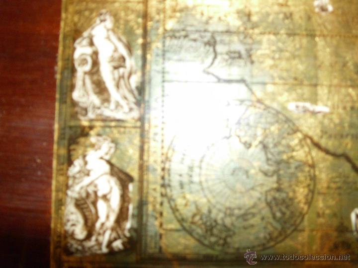 Antigüedades: Bandeja cartografia mapamundi de willen blaeu 1606 - Foto 8 - 51648247