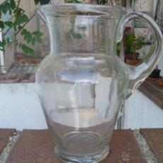 Antigüedades: ANTIGUA JARRA DE AGUA EN CRISTAL SOPLADO EN PERFECTO ESTADO.. Lote 51651457