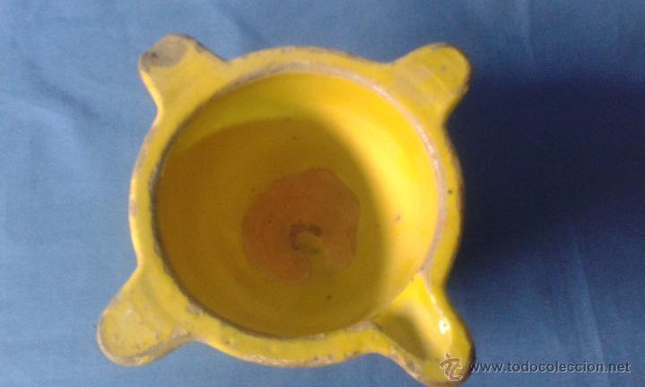 Antigüedades: antiguo almirez de ceramica - Foto 2 - 51652662