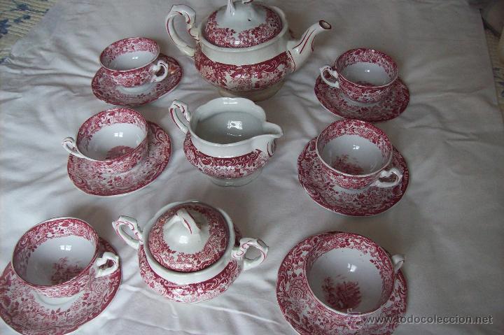 JUEGO TE CARTUJA DE SEVILLA PICKMAN (Antigüedades - Porcelanas y Cerámicas - La Cartuja Pickman)