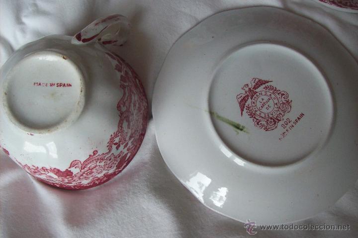 Antigüedades: Juego te Cartuja de Sevilla Pickman - Foto 7 - 51669342