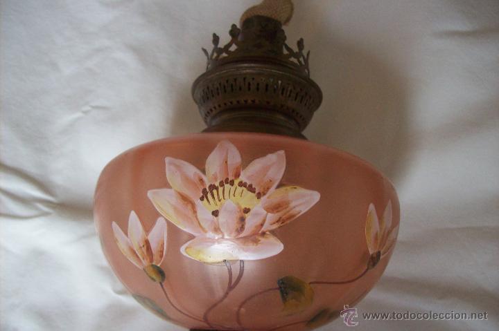 Antigüedades: Quinque Esmaltado Art Nouveau - Foto 3 - 51669824