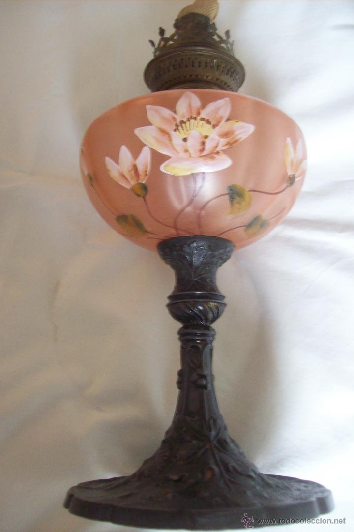 Antigüedades: Quinque Esmaltado Art Nouveau - Foto 6 - 51669824