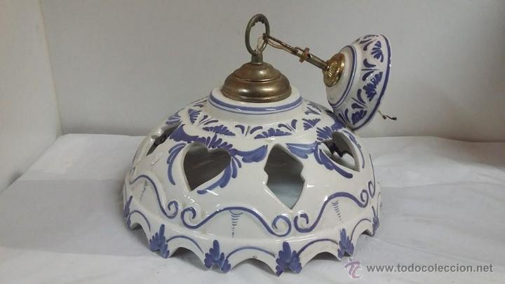 Lampara ceramica techo comprar l mparas antiguas en for Lamparas de ceramica