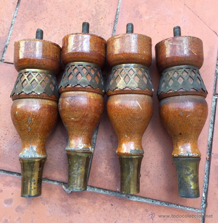 patas de madera para mesilla o mueble bajo - pi - Comprar ...