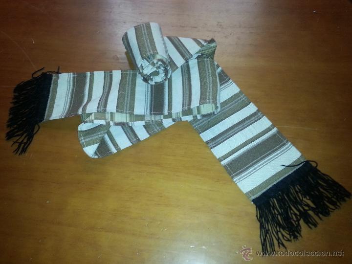 Antigüedades: fajin 3 metros de virgen vestir hebrea tamaño natural, flecos terciopelo, semana santa - Foto 2 - 85505159
