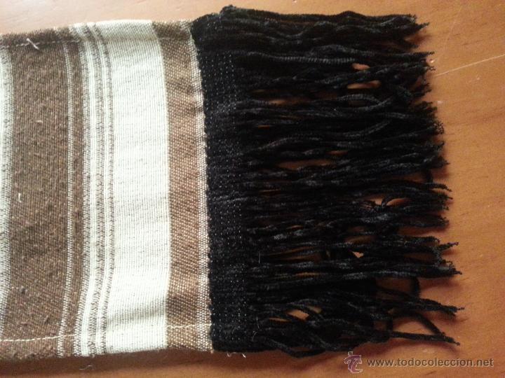 Antigüedades: fajin 3 metros de virgen vestir hebrea tamaño natural, flecos terciopelo, semana santa - Foto 4 - 85505159