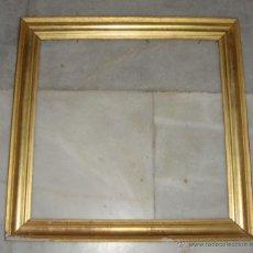 Antigüedades: ANTIGUO MARCO DORADO. S.XIX. MADERA, ESTUCO Y PAN DE ORO.. Lote 51707511