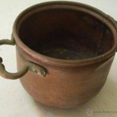 Antigüedades: OLLA DE COBRE Y LATON. Lote 51716019