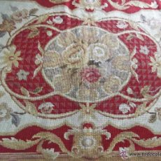 Antigüedades: ANTIGUA ALFOMBRA, XIX FRANCESA DE PETIT POINT, LANA, PERFECTO ESTADO. Lote 51717540
