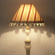 Antigüedades: LAMPARA DE MESA, CON PIE DE ALABASTRO. Lote 51720844