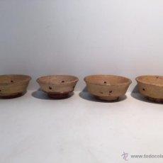 Antigüedades: LOTE MOLDE DE HACER QUESO, CERAMICA POPULAR CATALANA.. Lote 51727898