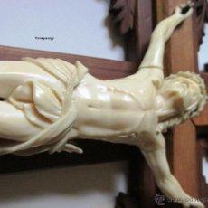 Antigüedades: CRISTO EN MARFÍL TALLADO. Lote 51730318