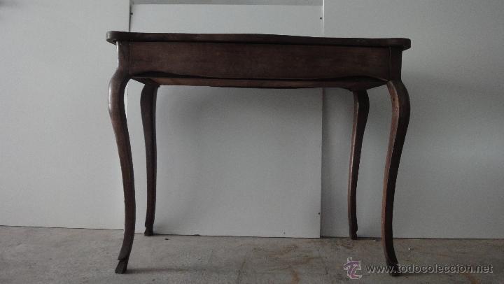 Consola de caoba antigua con cajon comprar consolas for Consolas antiguas muebles