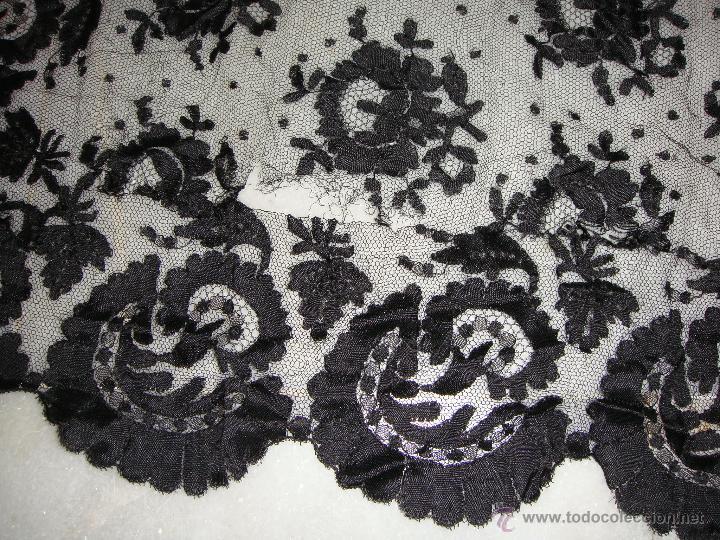 Antigüedades: Bonita Mantilla Española Antigua (193 cm x 80 cm) - Foto 7 - 51741733