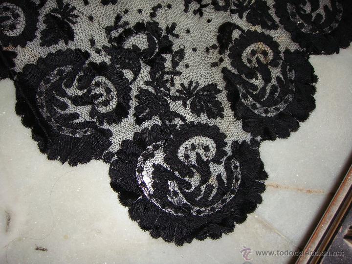 Antigüedades: Bonita Mantilla Española Antigua (193 cm x 80 cm) - Foto 8 - 51741733