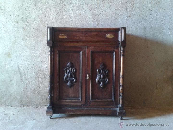 Antigüedades: entredós alfonsino s. XIX mueble auxiliar antiguo recibidor antiguo estilo alfonsino - Foto 2 - 51766973