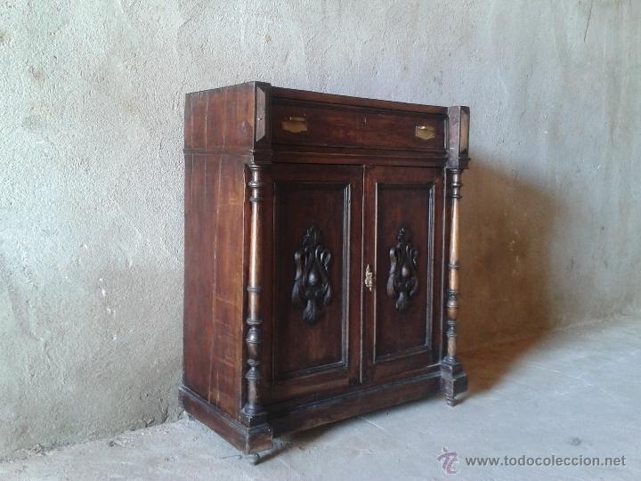 Antigüedades: entredós alfonsino s. XIX mueble auxiliar antiguo recibidor antiguo estilo alfonsino - Foto 3 - 51766973