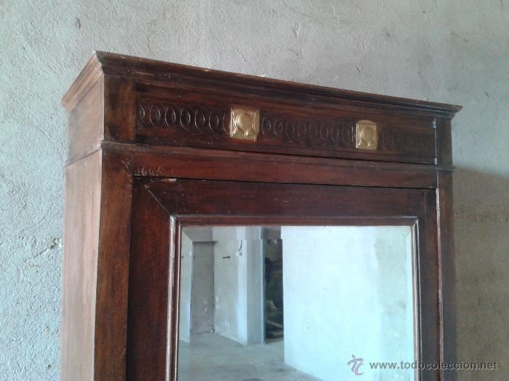 Antigüedades: armario antiguo estilo modernista art deco nouveau armario ropero francés con espejo retro vintage - Foto 3 - 51768370