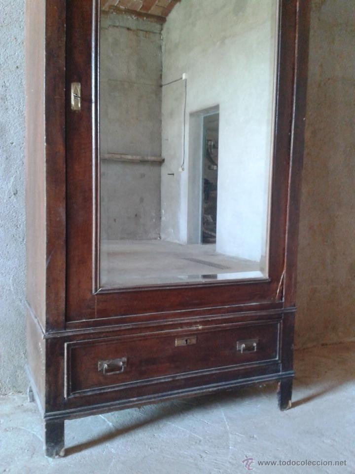 Antigüedades: armario antiguo estilo modernista art deco nouveau armario ropero francés con espejo retro vintage - Foto 4 - 51768370