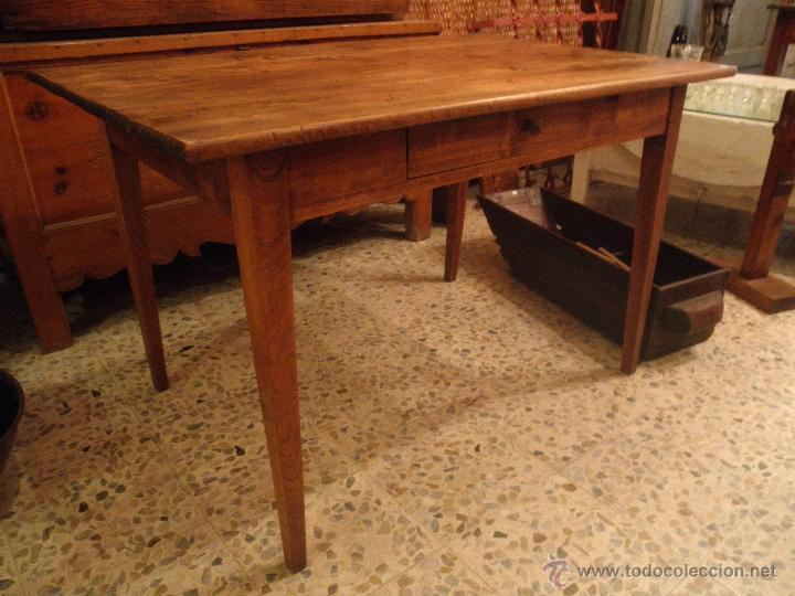 ANTIGUA MESA DE CAMPO FRANCESA (Antigüedades - Muebles Antiguos - Mesas Antiguas)