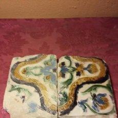 Antigüedades: BONITO AZULEJO TRIANA SIGLO XVI ARISTA. SEVILLA ANTIGUO CERAMICA 2. Lote 51331888